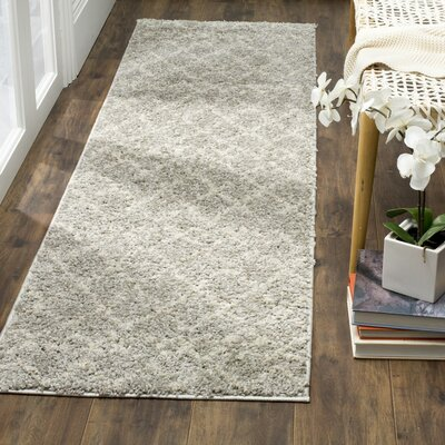 Tourville Light Gray/Cream Area Rug Rug Size: Runner 23 x 8