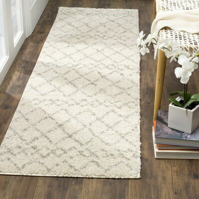 Lewistown Cream/Light Gray Area Rug Rug Size: Round 51 x 51