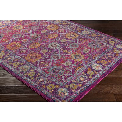 Hillsby Pink/Purple Area Rug Rug Size: Rectangle 311 x 57