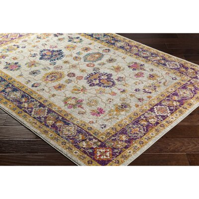 Koval Purple/Orange Area Rug Rug Size: Rectangle 93 x 126
