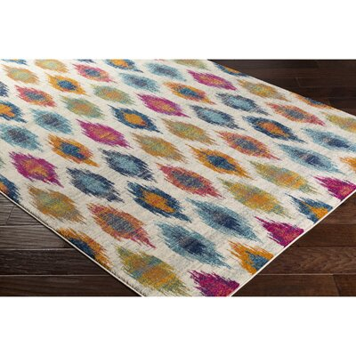 Youcef Blue/Pink Area Rug Rug Size: Rectangle 311 x 57