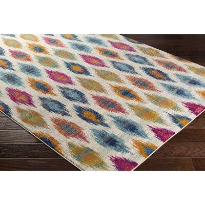 Youcef Blue/Pink Area Rug Rug Size: Runner 27 x 73