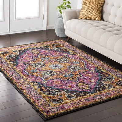 Nichole Pink/Beige Area Rug Rug Size: Rectangle 53 x 73