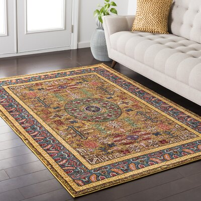 Nichole Yellow Area Rug Rug Size: Rectangle 53 x 73