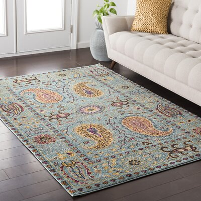 Nichole Blue/Yellow Area Rug Rug Size: Rectangle 710 x 103