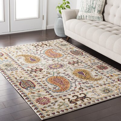 Nichole White Area Rug Rug Size: Rectangle 2 x 3