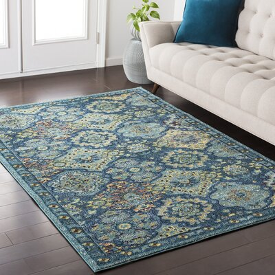 Nichole Blue Area Rug Rug Size: Rectangle 53 x 73