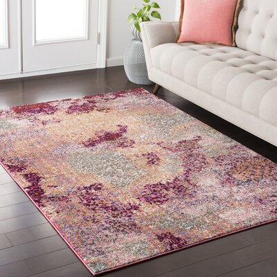 Nichole Pink/Red Area Rug Rug Size: Rectangle 710 x 103