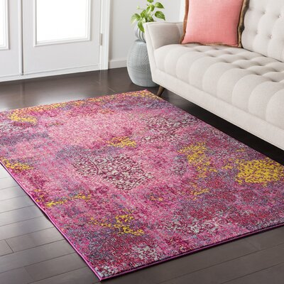 Nichole Pink/ Red Area Rug Rug Size: Rectangle 53 x 73