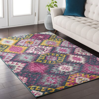 Nichole Southwestern Pink Area Rug Rug Size: Rectangle 710 x 103