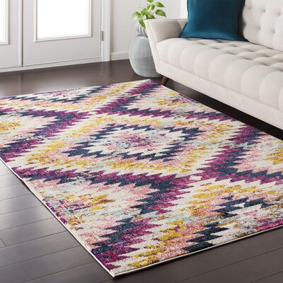Nichole Purple Area Rug Rug Size: Rectangle 53 x 73