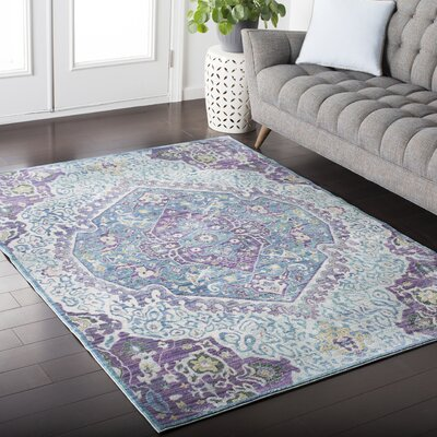 Fields Purple / Blue Area Rug Rug Size: Runner 27 x 67