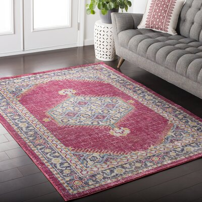 Fields Pink Area Rug Rug Size: Rectangle 9 x 1110