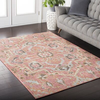 Fields Pink Area Rug Rug Size: Rectangle 311 x 57
