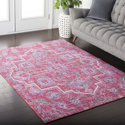 Fields Oriental Pink / Purple Area Rug Rug Size: Rectangle 2 x 3