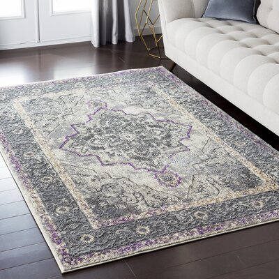 Nicole Gray/Brown Area Rug Rug Size: 67 x 96