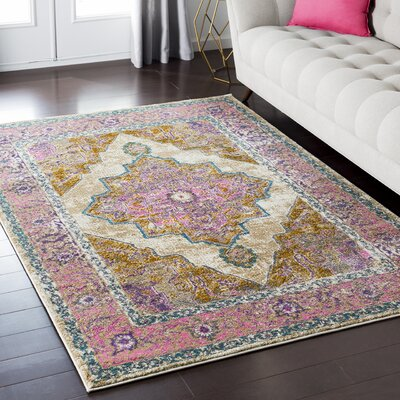 Nicole Brown/Pink Area Rug Rug Size: Rectangle 710 x 103