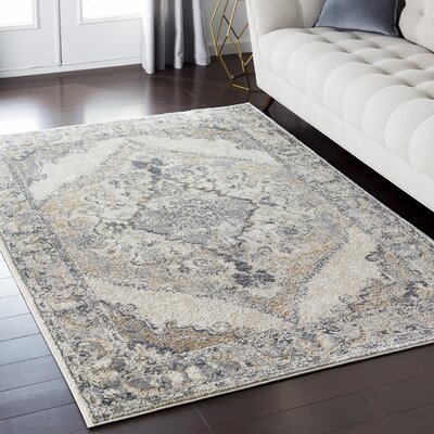 Nicole Gray Area Rug Rug Size: Rectangle 53 x 73