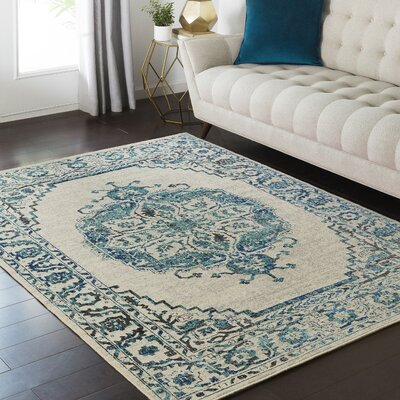 Puran Blue Area Rug Rug Size: 110 x 211