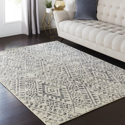 Zita Beige Area Rug Rug Size: Rectangle 53 x 73