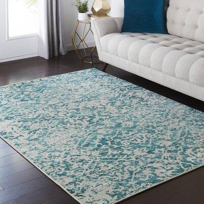 Zita Beige/Blue Area Rug Rug Size: 810 x 129