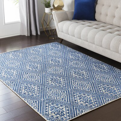 Zita Blue Area Rug Rug Size: Rectangle 53 x 73