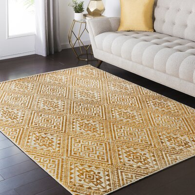 Zita Yellow Area Rug Rug Size: Rectangle 810 x 129