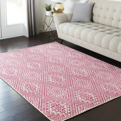 Zita Beige/Pink Area Rug Rug Size: Rectangle 810 x 129