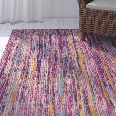 Andover Purple Area Rug Rug Size: 3'11