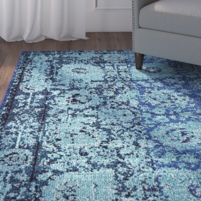 Barret Blue Area Rug Rug Size: Rectangle 106 x 165