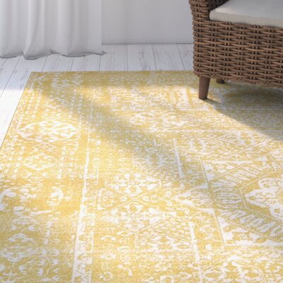 Delgado Yellow Area Rug Rug Size: Runner 22 x 6