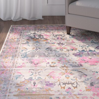 Charlena Pink Area Rug Rug Size: Rectangle 4 x 6