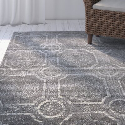 Essex Dark Gray Area Rug Rug Size: Rectangle 7 x 10
