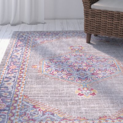 Fields Contemporary Purple / Blue Area Rug Rug Size: Rectangle 710 x 103