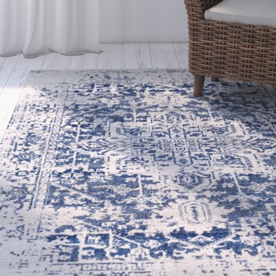 Hillsby Oriental Blue Area Rug Rug Size: Rectangle 2 x 3
