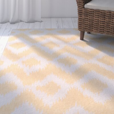 Arbuckle Hand-Tufted Butter/White Area Rug Rug Size: Rectangle 3 x 5
