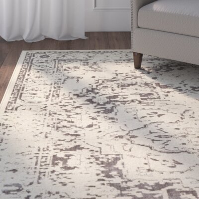 Puran Brown/Cream Area Rug Rug Size: 53 x 73
