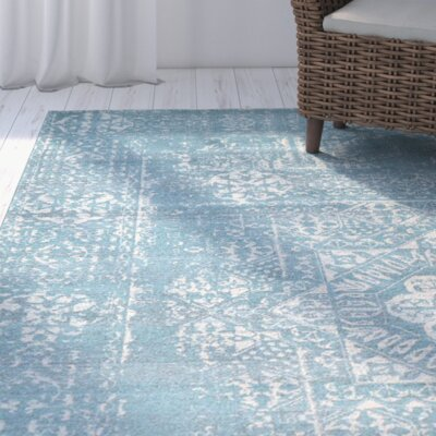 Delgado Brook Light Blue Area Rug Rug Size: Rectangle 4 x 6