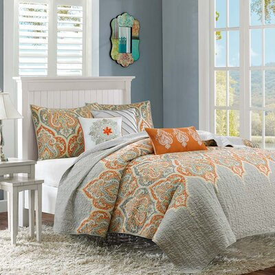 Marlee 6 Piece Quilted Coverlet Set