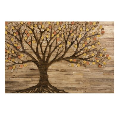 Brown/Yellow Living Tree Wall Decor