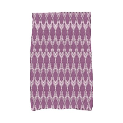 Molly Mudcloth Geometric Hand Towel Color: Purple