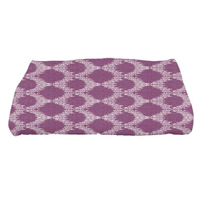 Molly Mudcloth Geometric Bath Towel Color: Purple