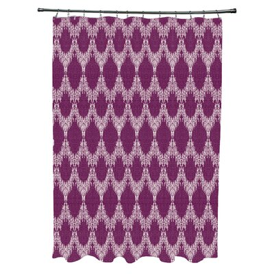 Molly Peace 2 Geometric Shower Curtain Color: Purple