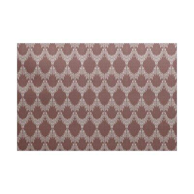 Molly Geometric Maroon Area Rug Rug Size: 4 x 6