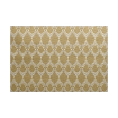Molly Geometric Gold Area Rug Rug Size: 3 x 5