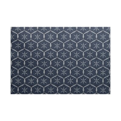 Arlo Geometric Navy Blue Area Rug Rug Size: Rectangle 2 x 3