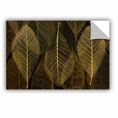 Amara Leaf Gold Wall Decal Size: 12