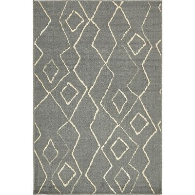 Berkshire Gray Indoor Area Rug Rug Size: 5 x 8