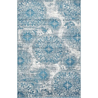 Brandt Blue Indoor Area Rug Rug Size: 4 x 6