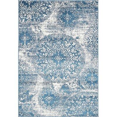 Brandt Blue Indoor Area Rug Rug Size: 5 x 8